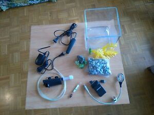 1.5 gallons mini Fish tank and accessories