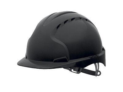 JSP EVO3 premium vented black safety helmet comfort liner standard peak hard hat