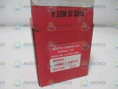 North American Signal Co. Mcm100 Dome Amber New In Box