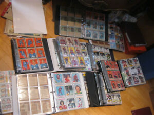RARE HUGE COLLECTION OF VINTAGE HOCKEY CARDS!  1960'S-1980'S!