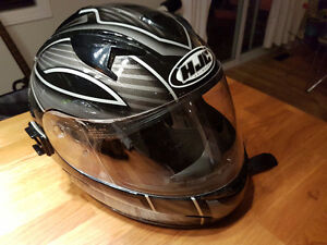 HJC Helmet Black , size M with built in drop down tinted visor