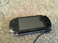 Original PSP black with accessories and games bundle