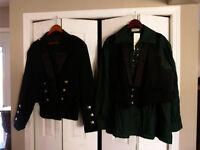 Men's Scottish Dress Jacket, Vest, Shirt & Shoes