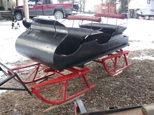 Sleigh, antique horse drawn bobsleigh