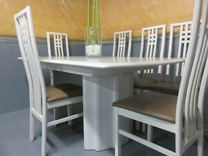 Kitchen Table with 6 chairs (leather upper)