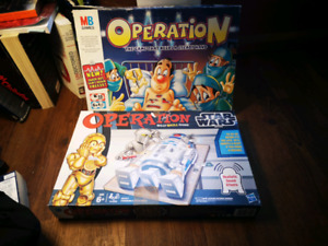 ORIGNAL OPERATION AND STARWARS OPERATION GAMES
