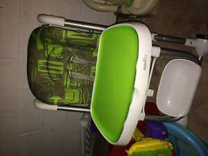High chair green