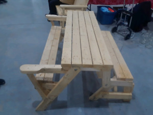 Picnic Table That Folds to Bench 275.00