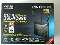DSL-AC68U - AC1900 Dual Band ADSL/VDSL Gigabit WiFi Modem Router
