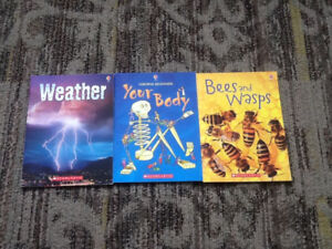 SCHOLASTIC BOOKS USBORNE YOUR BODY WEATHER BEES & WASPS