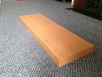 Floating shelf - beech - with invisible brackets