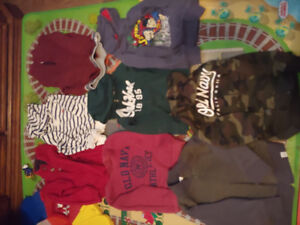 3T toddler boy's hoodies, zip-ups and pull-overs lot. 8 pieces.