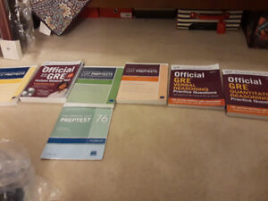 LSAT and GRE Prep books
