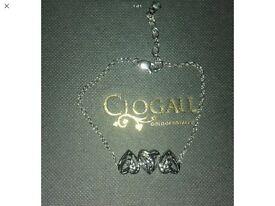 Clogau silver and rose gold diamond eternal love bracelet