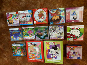 14 children puzzles....ALL pieces in each box