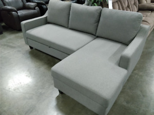 The Miguel L shape sofa bed, light grey or dark grey, IN STOCK