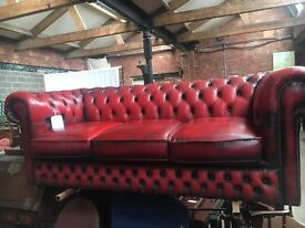Chesterfield Leather Sofas - All colours and sizes - UK Delivery