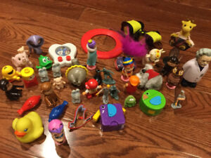 Lot of Small Plastic Toys for Toddlers