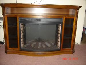 Muskoka Laurel Media Console with 33 Inches Curved Firebox