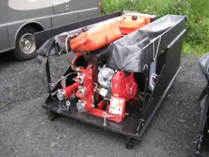 Skid-Mounted Water Pump with Tank/Hoses