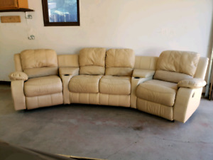 Well worn theater seating sectional