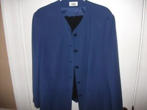 Suit Blue Jacket with Black Skirt
