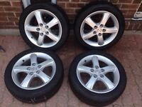 Mazda 3 Rims and General G MAX 195 50 ZR16 Performance Tires