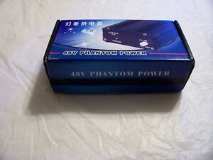 Condenser Mic Power Supply  XLR mint used twice 48 volt