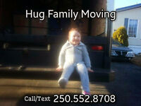 Hug Family Moving is hiring for year round work in Prince George