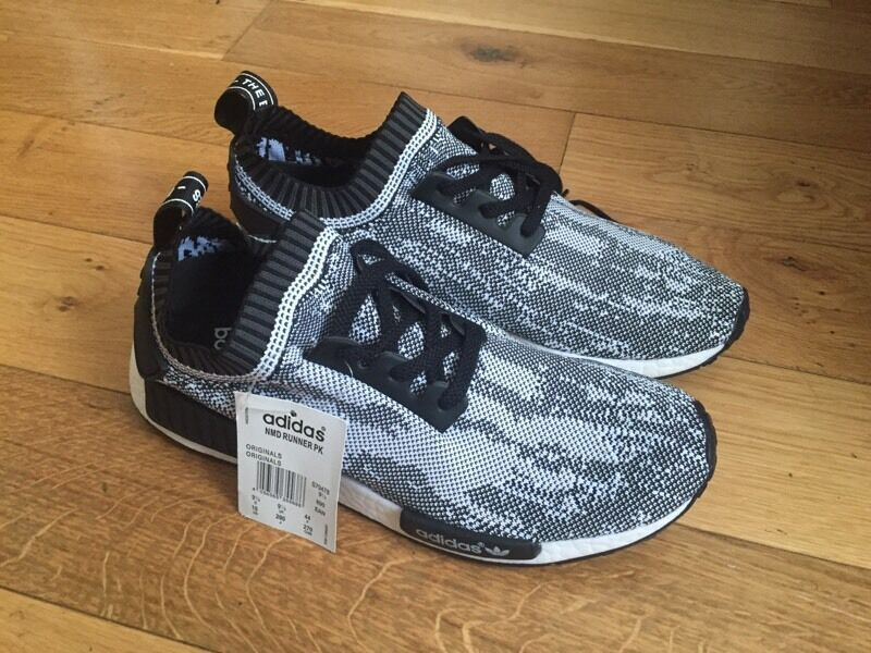 Adidas NMD Runner PK Glitch Camo Edition Unisex Boys Girls Trainers Sneakers  Shoes Footwear Size 5