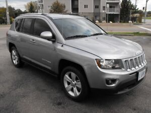2016 JEEP 4X4 COMPASS  SUNROOF  LEATHER  LOADED  19 KMS