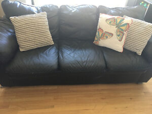 Great faux leather couch