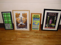 SIGNED PRINTS concert posters music bands artists