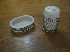TOOTHBRUSH HOLDER AND SOAP DISH