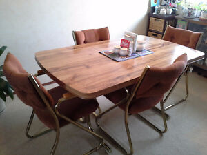 Brass Dining Table and 4 Chairs,Very good condition, $100.00