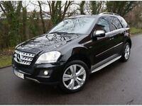 2009 MERCEDES ML350 CDI SPORT BLUEEFFICIENCY AUTOMATIC 3.0 V6 DIESEL BLACK HPI CLEAR
