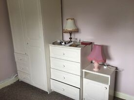 Wardrobe, Chest of Drawers & Bedside Table