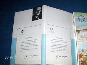 MONTREAL-VINTAGE 1966 TOURIST BOOKLET-MAYOR DRAPEAU-COLLECTIBLE!