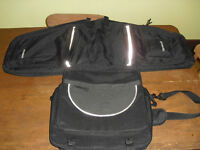 Heavy Business bike garment pannier bag & messenger bag & rack