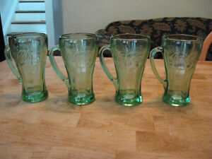 COKE GLASSES 50'S STYLE 4 GLASSES FOR $15.00 Cambridge Kitchener Area image 1
