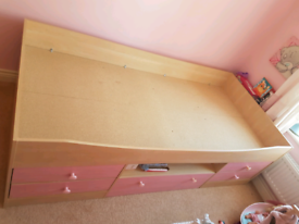 Low rise cabin bed with drawers