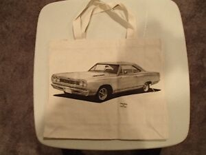 1968 Plymouth Road Runner HEMI Canvas Tote Bag - New