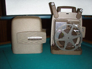 Antique projector and screen