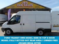 2010 60 FORD TRANSIT 280 SWB FORD TRANSIT T280 SWB SEMI HI TOP 1 OWNER DIRECT FO