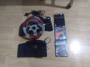 Volant PS2/Gamecube + 3 Need For Speed au PS2