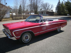 1966 SPORT FURY CONVERTIBLE EXTREMELY RARE FACTORY 440-4 SPEED