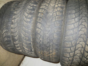 4 P195/65R15 SEVERE SNOW RATED WINTER TIRES