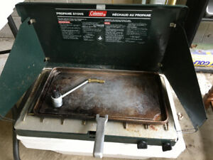 2burner Coleman stove and griddle.