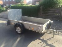 """Ifor Williams p7E trailer + spare wheel & ramp 7ft 3"""" by 4ft"""