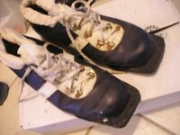 XC Cross country skis and ski boots